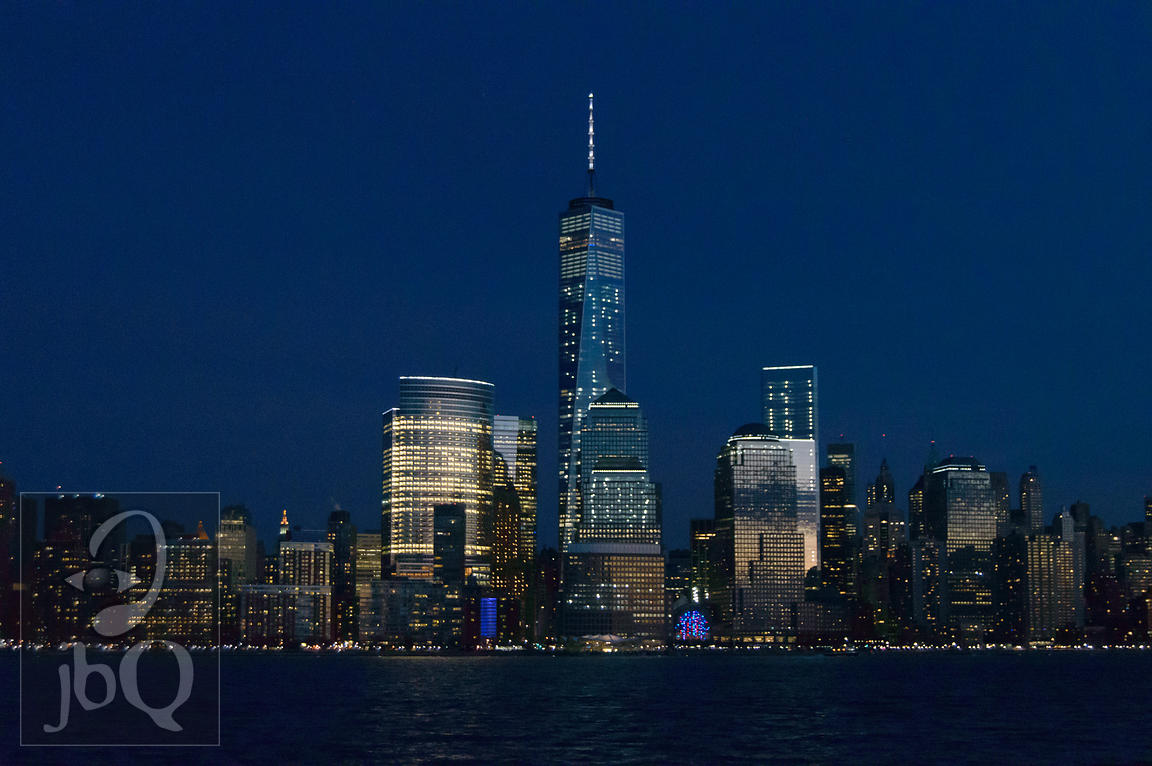 Nightfall Skyline Downtown NYC_3
