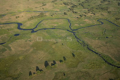 Aerial view of the Narev river, Poland.