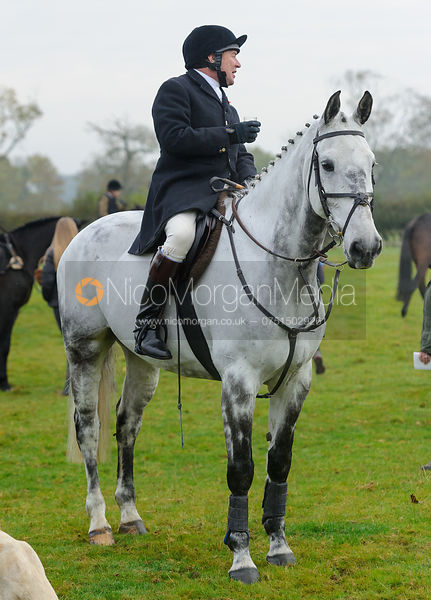 Richard Hunnisett at the meet - The Cottesmore at Langham.
