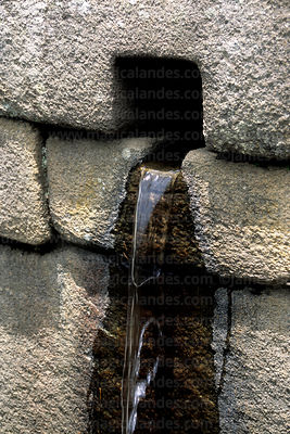 Detail of water channel, Machu Picchu, Peru