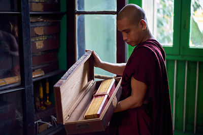 Monk with Scrolls