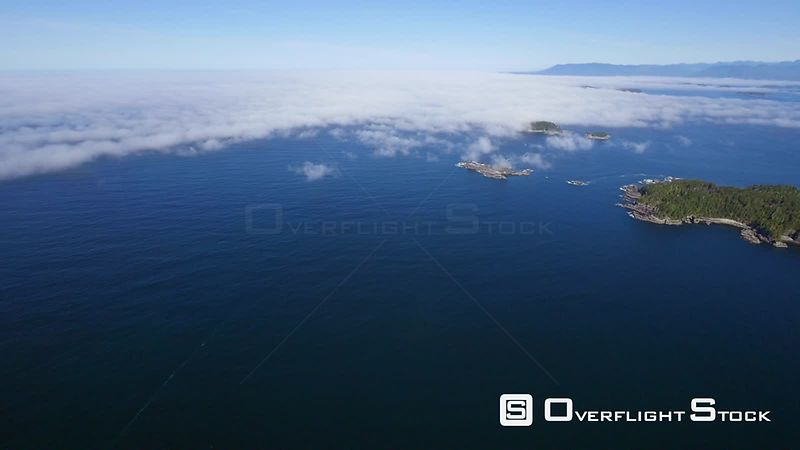 Fog Over the Broken Group Barkley Sound West Coast Vancouver Island BC