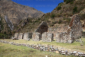 Inca ruins at Marcacocha in Patacancha valley, Sacred Valley, Peru