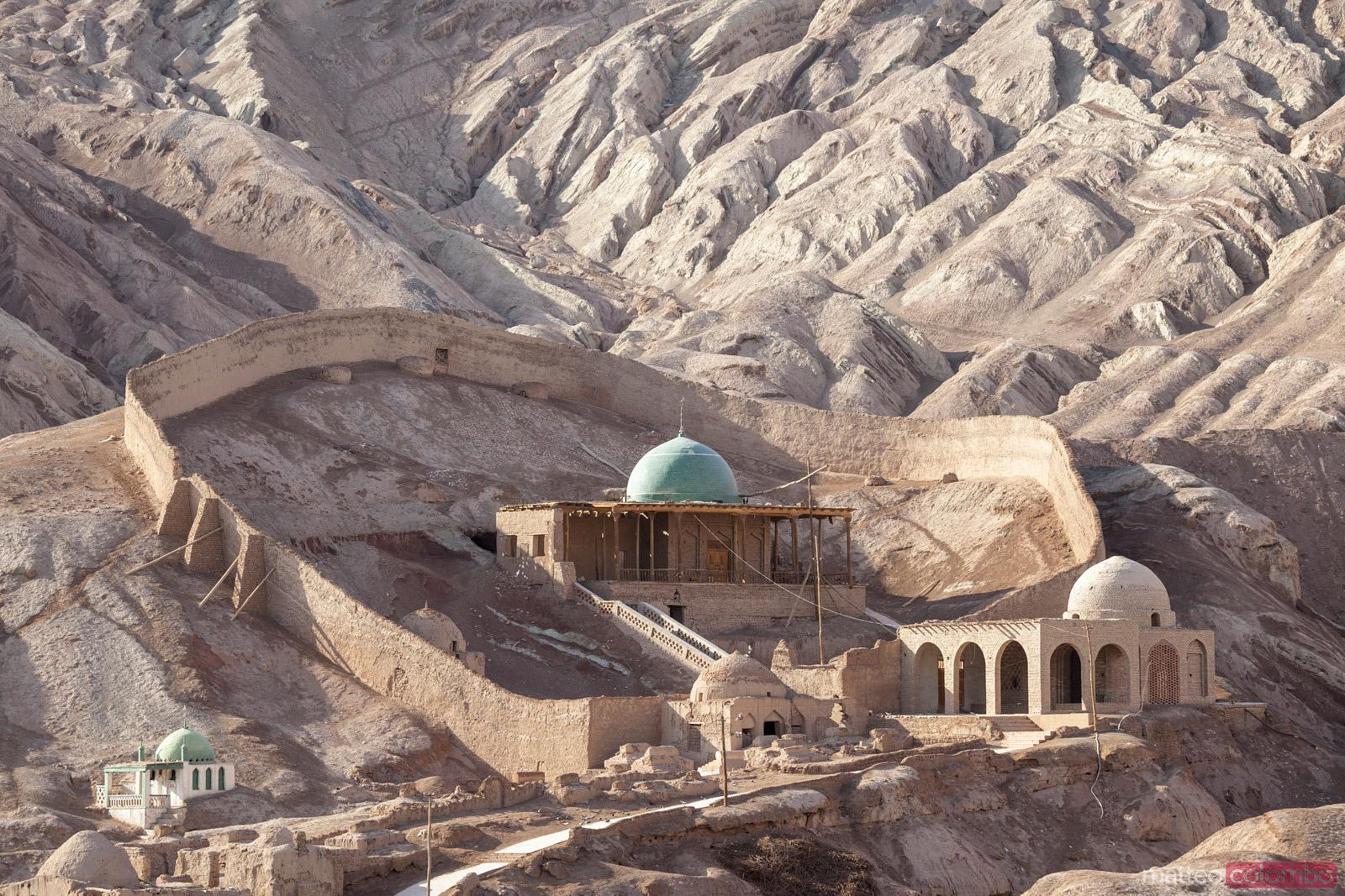 Tombs and ruins in ancient village, Xinjiang, China