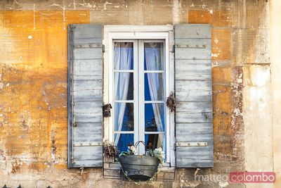 Detail of window of an old house, St Remy de Provence, France