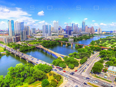 Bridges of Austin Texas USA
