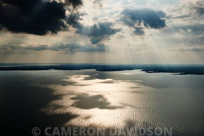 Aerial photograph of Chesapeake Bay