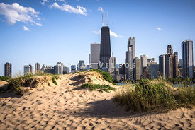 Chicago Beach and Skyline