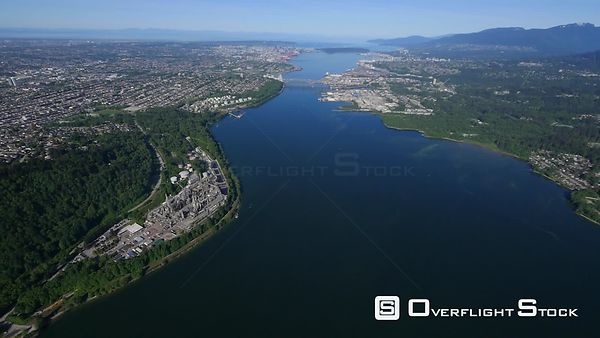 Burrard Inlet Cutting Through Burnaby and North Vancouver