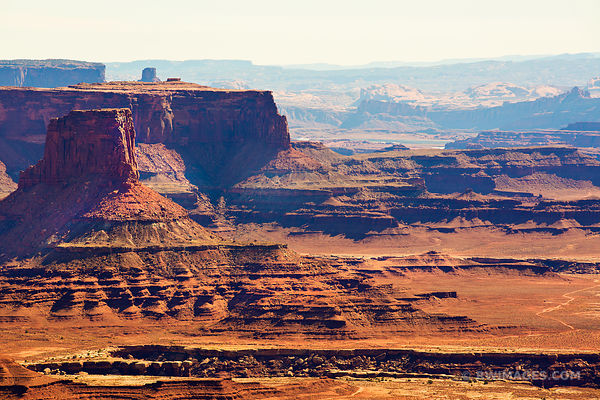 GRAND VIEW POINT OVERLOOK CANYONLANDS NATIONAL PARK UTAH