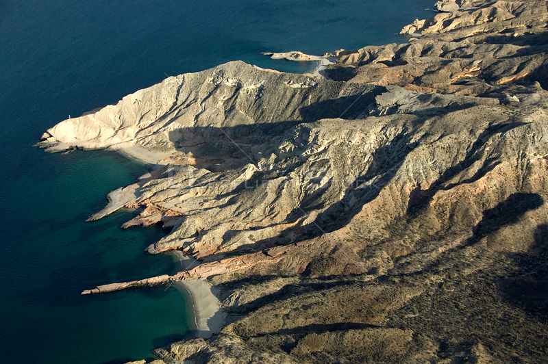 Aerial view of San Jose Island, Baja California, Mexico, April 2008