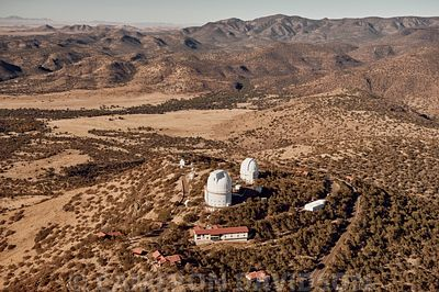 Aerial of the McDonald Observatory in West Texas.