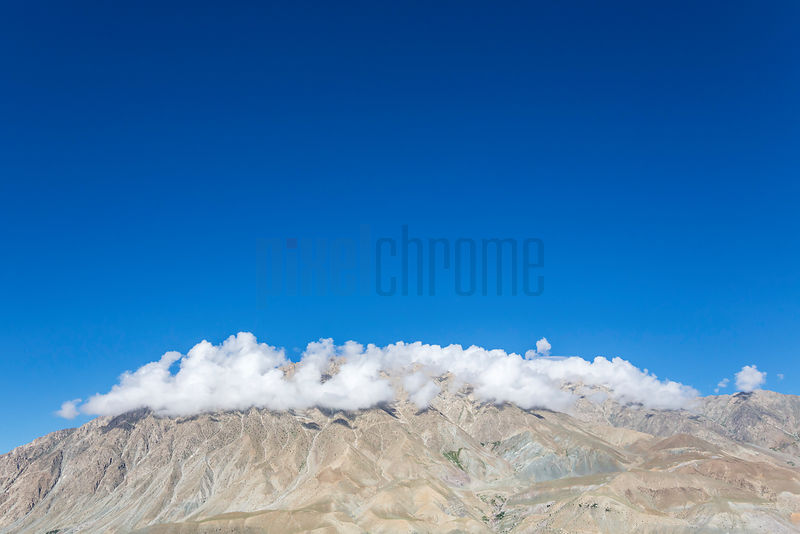 Elevated View of the Mountains next to Kargil
