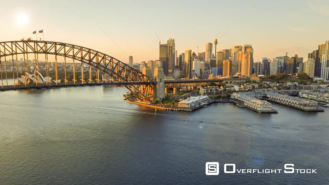 Sydney Harbour Bridge Timelapse  Drone Video Australia