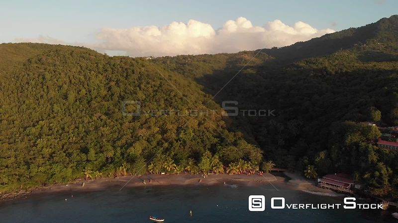 St.Lucia Anse Cochon Sailboats Anchored off Shore