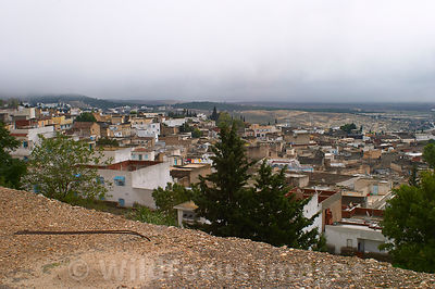 The town of Le Kef as seen from the Kasbah. Le Kef Tunisia; Landscape