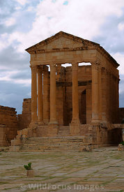 Temple of Minerva built in the 2nd century, Sbietla Tunisia; Portrait