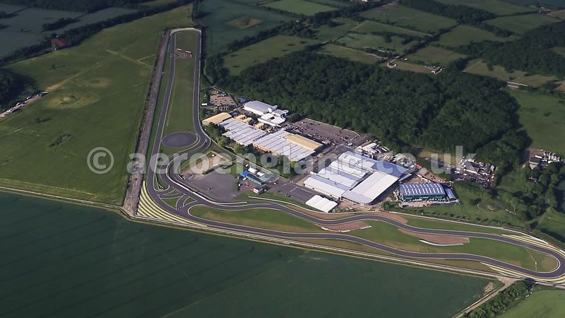Short clip aerial video of the Lotus Car Factory in Hethel Norfolk