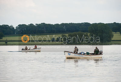 Fishermen in their boats on Rutland Water