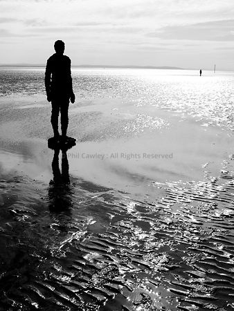 Antony Gormley Another Place, Crosby beach Merseyside