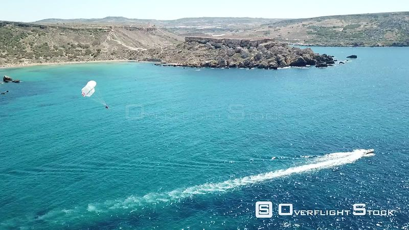 Parasailing Drone Video Golden Bay IrRamla talMixquqa Malta