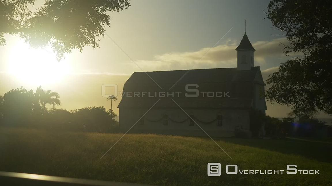 TimeLapse of Old Church Maui Hawaii