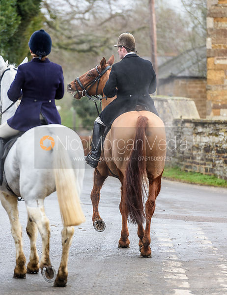 Angus Smales in Knossington. The Cottesmore Hunt at The Priory