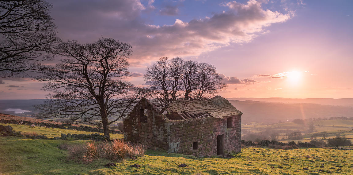 Sunset at Roach End Barn