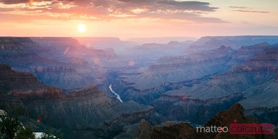 Majestic sunset over Grand Canyon, Arizona, USA