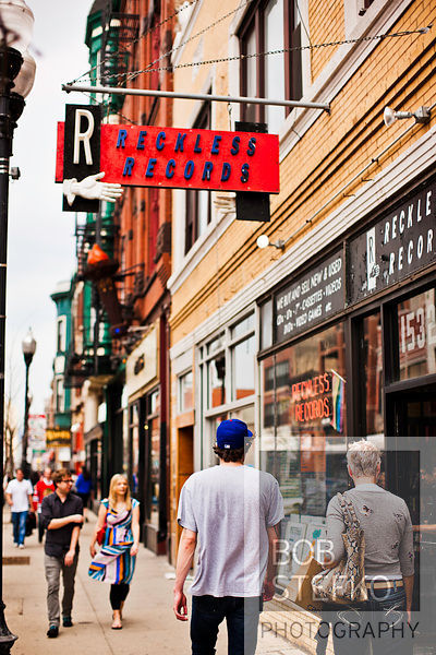 Bob Stefko Photography | Pedestrians walking by Reckless