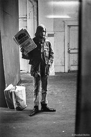 """Tribe"" newspaper seller, The Doors   Chicago Coliseum, 1968"