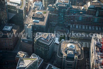 Aerial view of Exchange Square, London