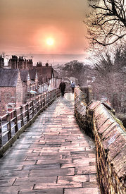 Chester Walls At Sunset