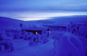 Wilderness Cabin in Polar Night