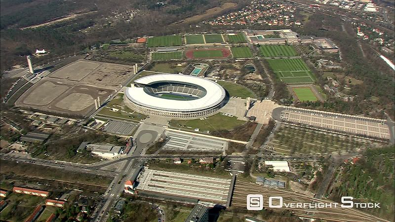 Orbiting Olympic Stadium in Berlin