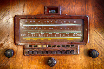 Antique Radio Face