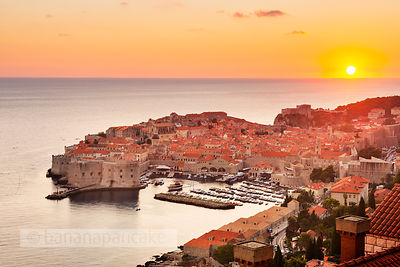 Sunset over the Old Town, Dubrovnik - BP4749