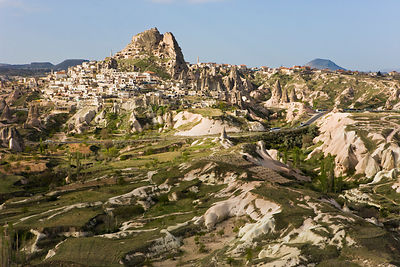 The Rock Castle of Uchisar, Cappadocia, Anatolia, Turkey, 2008