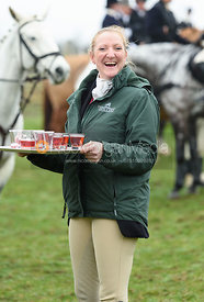 Fiona Davidson At the meet. The Cottesmore and The Pytchley at Downton House