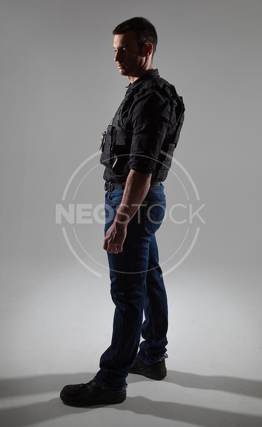 Craig Cinematic LAPD Stock Photography
