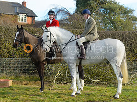 Hector Crouch, Hartley Crouch at the meet at Hill Top Farm