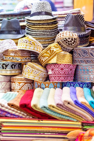 Oman, Muscat. Souvenirs in the old souk of Mutrah