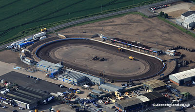 aerial photograph of Kings Lynn Speedway Stadium