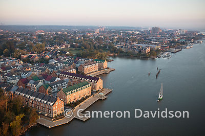 Aerial photograph of Fords Landing on the Potomac River in Alexandria, Virginia.