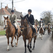 Royal Artillery Hunt, Tilshead, 04 April 2012