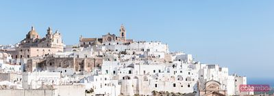 Panoramic of the old town, Ostuni (the white town), Apulia, Italy