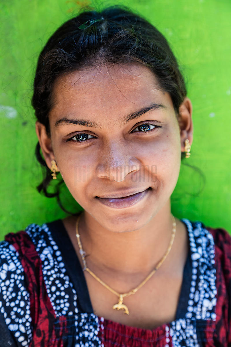 Portrait of a Young Woman in Marina Beach Slum
