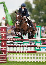 Sarah Stretton and Skip On - show jumping phase,  Land Rover Burghley Horse Trials, 2nd September 2012.