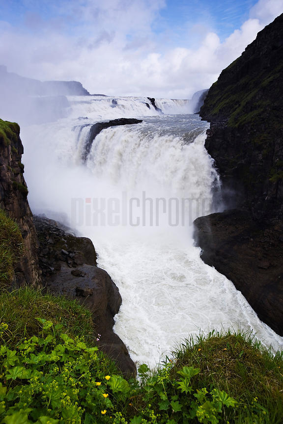 Gullfoss (Golden Falls) Waterfall, Hvita River, Iceland