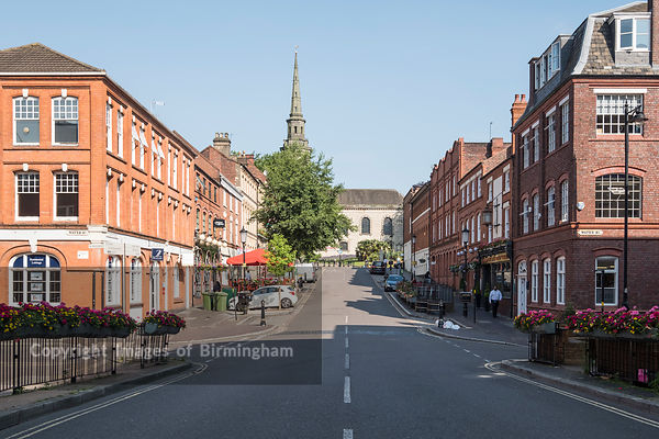 Ludgate Hill and St Pauls Church, The Jewellery Quarter of Birmingham, England